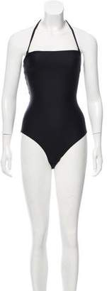 Cushnie et Ochs Strapless Lace-Up Swimsuit w/ Tags
