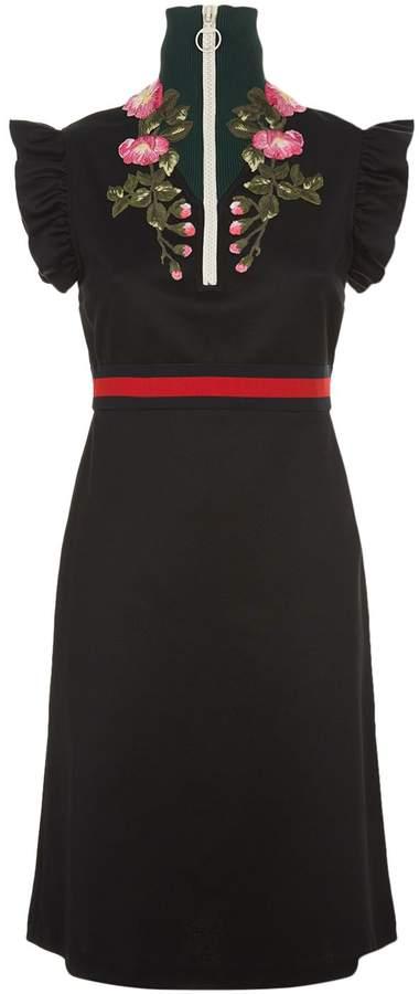 Gucci Ruffle Sleeve Dress, Black, L