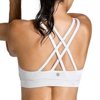 2a3bcee82b41e CRZ YOGA Women s Strappy Back Wirefree Padded Workout Yoga Sports Bra M