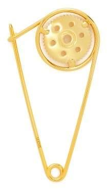 Loewe Meccano Brass Pin - Womens - Gold