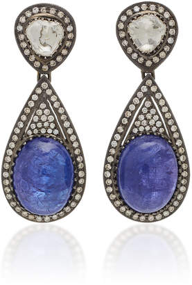 Amrapali 18K Gold Tanzanite And Diamond Earrings