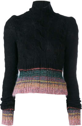 A.F.Vandevorst striped peplum jumper