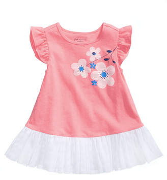First Impressions Floral & Tulle Top, Baby Girls, Created for Macy's