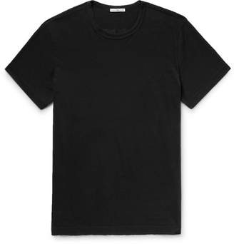 James Perse Printed Combed Cotton-Jersey T-Shirt - Men - Black