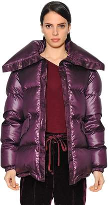 Nina Ricci Oversized Shiny Habutai Down Jacket