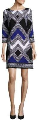 Vince Camuto Chevron Colorblock Shift Dress