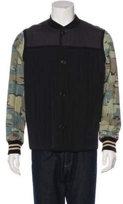 Dries Van Noten Camouflage Print Bomber Jacket