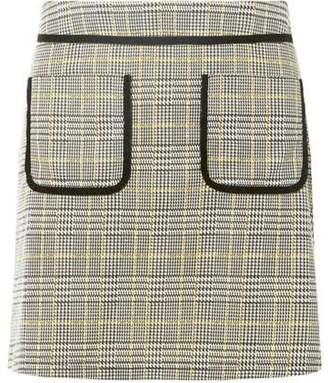 Dorothy Perkins Womens Petite Multi Coloured Checked Skirt