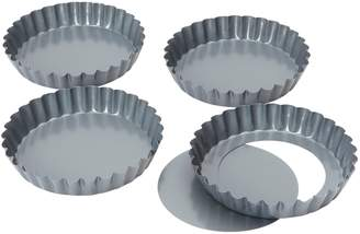 Camilla And Marc Bakers Pride Baker's Pride 12 cm 5-inch Non Stick Loose Base Mini Quiche/ Tartlet Pans, Set of 4
