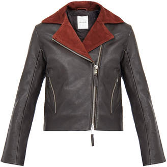Wood Wood Jackie Seal Brown Leather Jacket