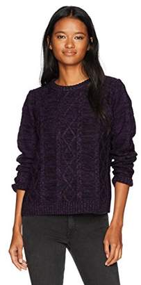 Obey Junior's Basel Crewneck Cable Knit Sweater