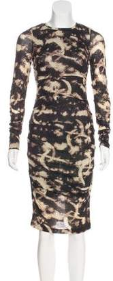 Nicole Miller Printed Midi Dress