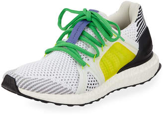 adidas by Stella McCartney UltraBoost Colorblock Knit Sneakers White/Yellow