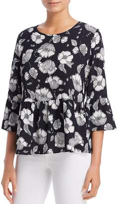 Status by Chenault Floral Bell-Sleeve Top