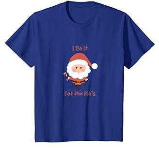 Funny Christmas Santa Tshirt I Do It For The Hos