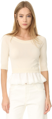 Boutique Moschino Boat Neck Top $525 thestylecure.com
