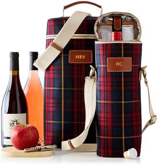 Mark And Graham Double Insulated Wine Tote, Plaid