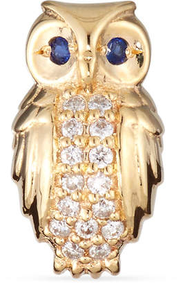 Sydney Evan Owl Diamond Single Stud Earring