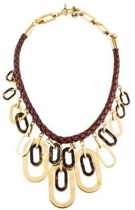 Michael Kors Leather & Tortoise Necklace