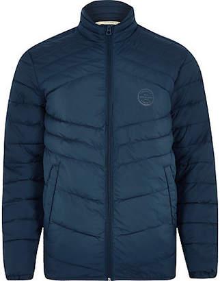 River Island Jack and Jones Originals blue quilted jacket