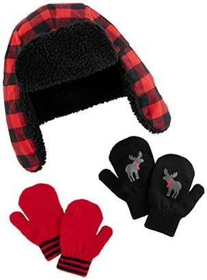 Carter's Simple Joys by Baby Boys' Toddler Hat and Mitten Set