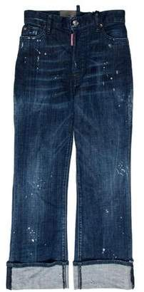 DSQUARED2 Cropped Slouch Flare High-Rise Jeans w/ Tags