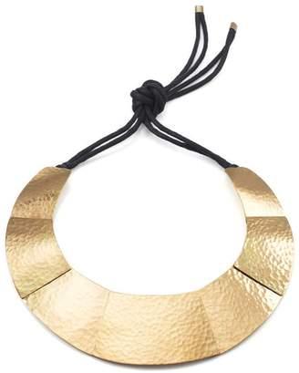 Josie Natori Geometric Brass Necklace