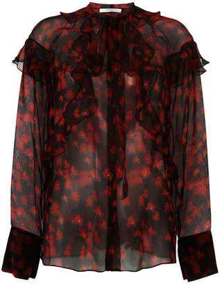 Givenchy printed sheer shirt