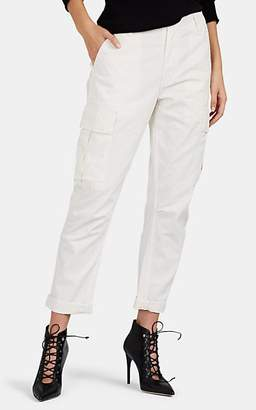 RE/DONE Women's Denim Cargo Trousers - White