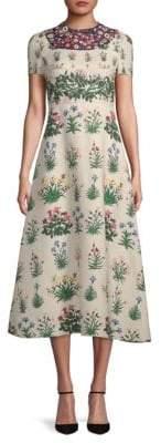 Valentino Botanical-Print Midi Dress