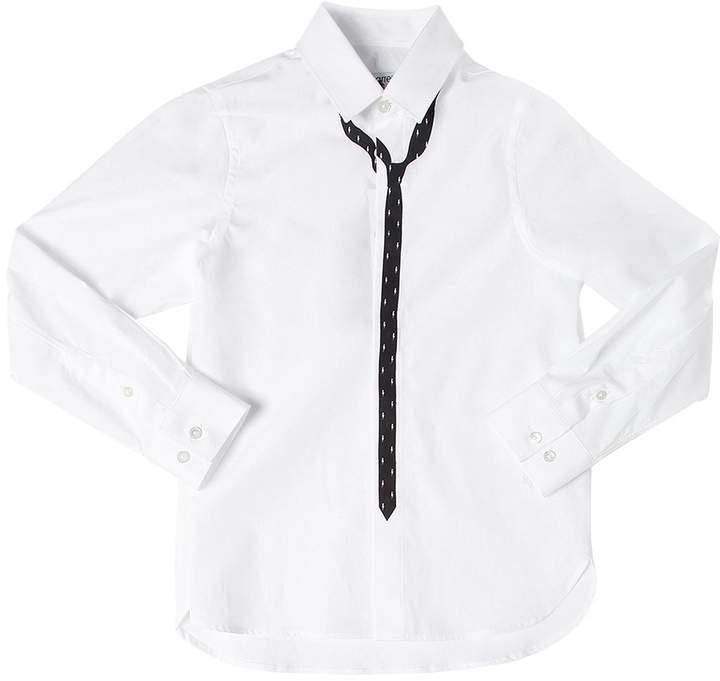 Hemd Aus Baumwollpopeline Mit Krawattendruck