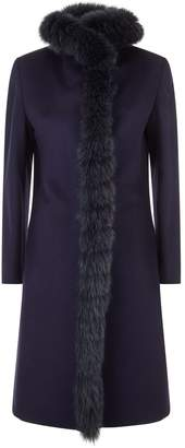 Cinzia Rocca Fur Trim Coat