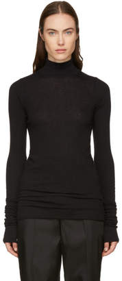 Rick Owens Lilies Black Heavy Jersey Turtleneck