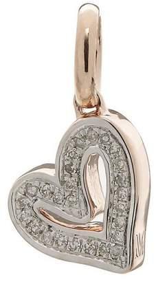 Monica Vinader Rose Gold-Plated Alphabet Heart Diamond Pendant