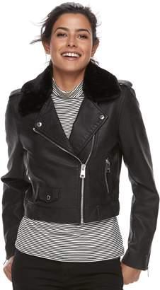 Levi's Levis Women's Asymmetrical Faux-Leather Moto Jacket