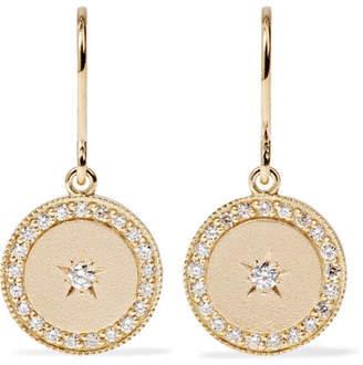Andrea Fohrman Phases Of The Moon 18-karat Gold Diamond Earrings