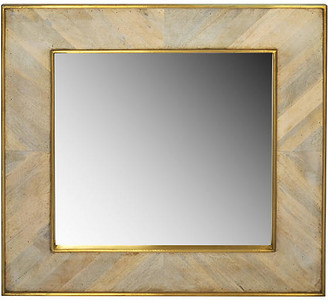 Selamat Wooden Square Mirror - Gold