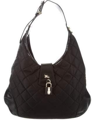 Burberry Quilted Brooked Hobo