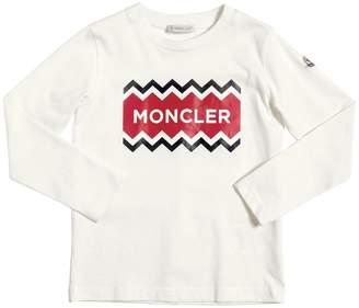 Moncler Logo Print Cotton Jersey T-Shirt