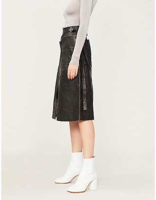 Ambush Nobo buckled-waist leather skirt
