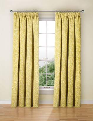 Marks and Spencer Floral Print Pencil Pleat Curtains