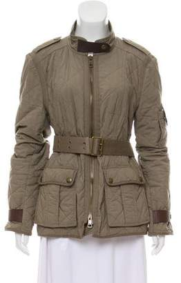Burberry Quilted Parka Coat