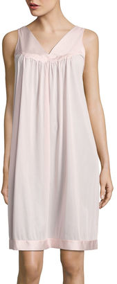 Vanity Fair Tricot Sleeveless V Neck Nightgown $30 thestylecure.com