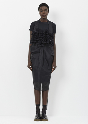 Junya Watanabe black spike front sheer apron dress $1,412 thestylecure.com