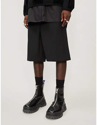 Comme des Garcons Tailored high-rise wool shorts