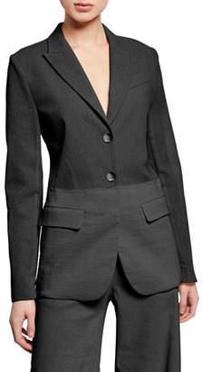 Pinko Darcia Two-Tone Linen Blazer