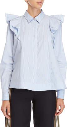 Paul & Joe Sister Ruffled Stripe Shirt
