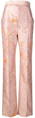 Haider Ackermann floral-embroidered jacquard trousers