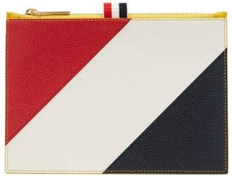 Thom Browne Diagonal Stripe Leather Coin Purse - Mens - Yellow