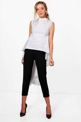 boohoo Collared High Low Shirt
